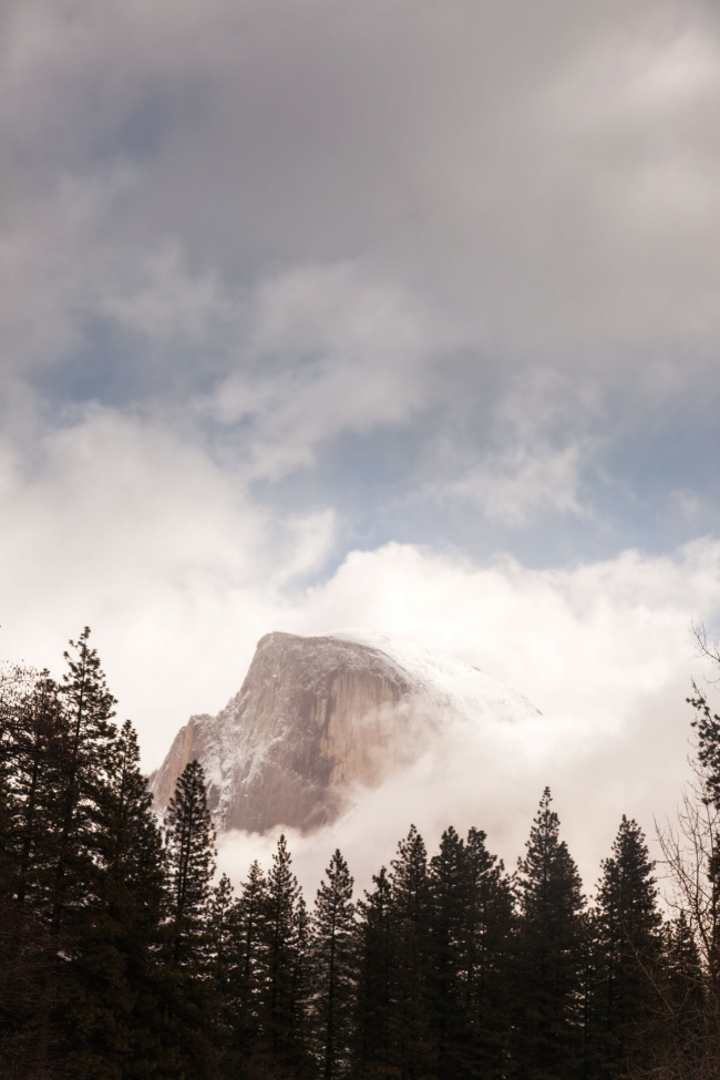 yosemite, national park, california, half dome, fog, sentinel bridge, podcast, ansel adams