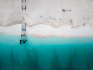 drone, turks and caicos, ocean, water, clear water, pier, sand, beach, turks and caicos, caribbean, travel