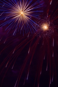 fireworks, night photography, long exposure,