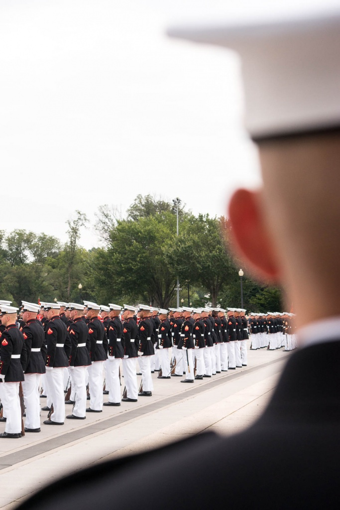 marine corp, sunset parade, lincoln memorial, national mall, reflecting pool commandant's own, united states marine, drum and bugle corps, marine corps silent drill platoon,