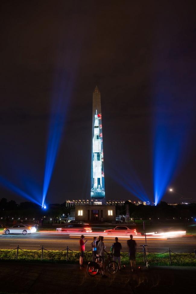 washington monument, washington dc, national mall, apollo 11, moon landing, spacecraft, night, 50th anniversary, moon landing, air and space museum, smithsonian institute