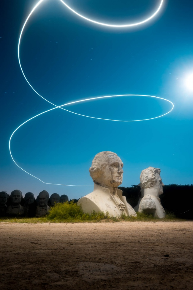 williamsburg, virginia, croaker, presidents heads, presidents park, drone, lume cube, night flighting, night photography, george washington, photo workshop, lighting