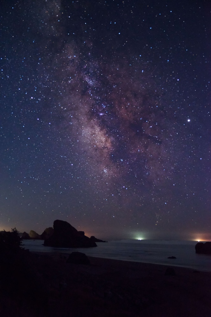 samuel h boardman state scenic corridor, state park, southwestern oregon, oregon parks, night photography, milky way, stars, meyers creek beach viewpoint, gold beach,