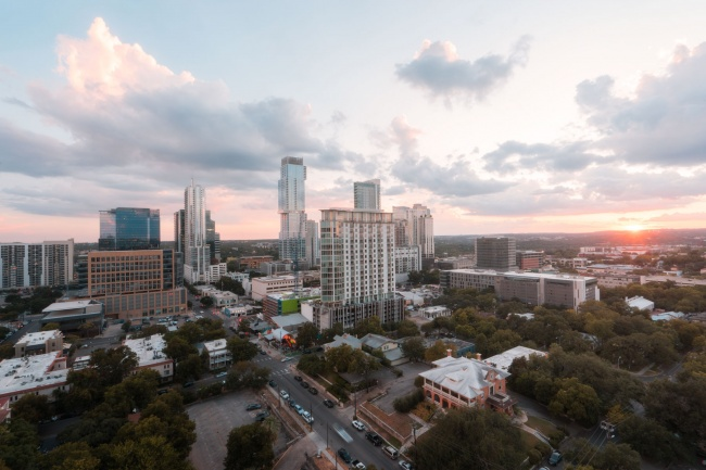 wyndham, austin, texas, downtown texas, tx, travel, landscape, cityscape, sunset,