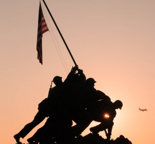 iwo jima, us marine corps war memorial, arlington, virginia, va, sunrise, american flag, veterans day, veterans, george washington parkway, arlington county, Arlington Ridge Park , soldiers