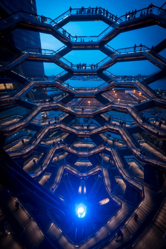vessel, nyc, new york, hudson yards, honeycomb, blue, blue hour, sunset, tickets, ticket prices, architecture, new york, big apple