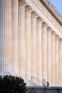 lincoln memorial, washington dc, sunrise, early morning, columns, architecture, national mall, nw, memorial parks, president lincoln, abraham lincoln, tourists,