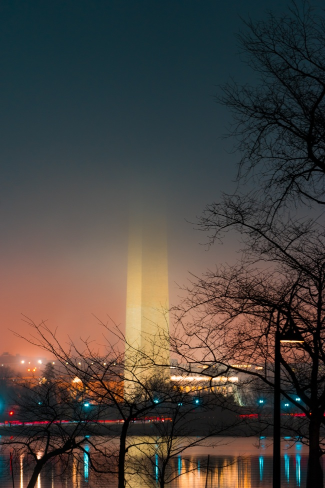 washington monument, washington dc, national mall, lights, evening, national park service, obelisk, night photography, tidal basin, sunrise, early morning