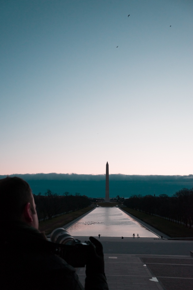 lincoln memorial, reflecting pool, washington dc, national mall, sunrise, winter sunrise, photographer, photography, @someguy, @markalanandre, youtube video