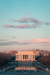 lincoln memorial, washington dc, washington monument, reflecting pool, sunrise, early morning, columns, architecture, national mall, nw, memorial parks, president lincoln