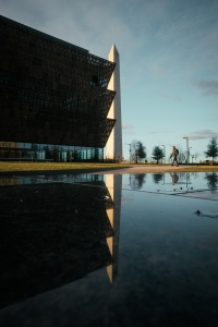 washington dc, washington monument, national museum of african american history and culture, nmaahc, reflection, someguy, scale, trees, national mall,