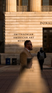 smithsonian museum, american art museum, SAAM, Washington DC, NW, chinatown, street photography, reflection, early morning