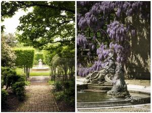 washington dc, dumbarton oaks, spring, wysteria, purple, landscape, best gardens, gardens, georgetown