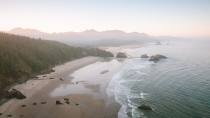 ecola state park, cannon beach, haystacks, beach, west coast, pacific ocean, free downloads, early morning, oregon,