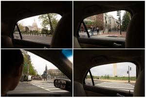 washington dc, covid19, coronavirus, inside the car, framing, washington monument, us capitol,