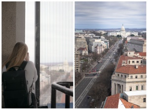 view from old post office, old post office tower, clock tower, washington dc, trump hotel, trump international hotel, us capitol,