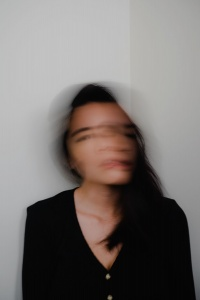 self portrait, in quarantine, motion blur, long exposure, selfie