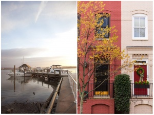 old town alexandria, town house, facade, waterfront, boats, dock, alexandria, gw parkway