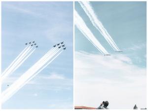 blue angels, flyover, thunderbirds, us navy blue angels, us air force thunderbirds, essential personal,