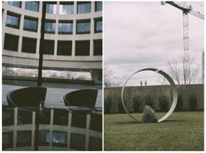 hirshhorn, museum, modern art, reflection, sculpture, national mall, museum, free museum