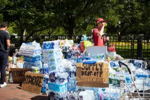 washington dc, supplies, water, helping others, hand sanitizer, snacks,
