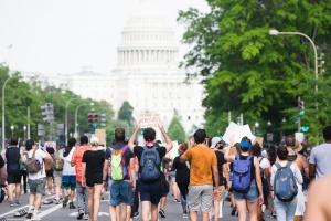 washington dc, us capitol, capitol, capitol building, Pennsylvania avenue, protesting, protestors, signs,