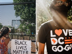 black lives matters, george floyd, blm, protests, us capitol, us capital, signs, washington dc, gogo music, gogo