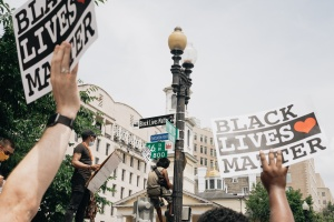 white house, 16th street, black lives matter plaza, protests, protestors for George floyd, blm,