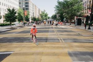 black lives matter plaza, black lives matter, washington dc, white house, 16th street, h street, bicycle