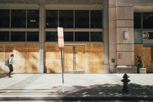 oarded, store fronts, businesses, restaurants, washington dc, white house,
