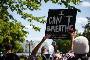 protestors, protesting, i can't breathe, white house, washington dc, president trump, signs, protesting