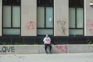 black lives matter, protestor, h st nw, white house, graffiti,