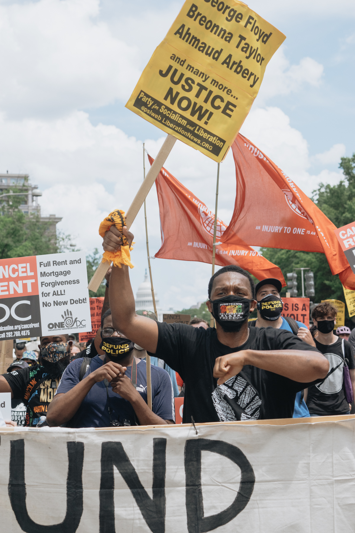 black lives matter, washington dc, us capitol, protest in the streets, defund the police