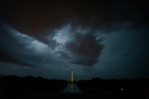 storm, lightning, thunder, storm clouds, washington dc, washington monument, lincoln memorial, reflecting pool