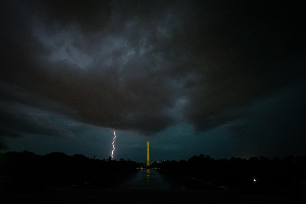 storm, lightning, thunder, storm clouds, washington dc, washington monument, lincoln memorial, reflecting pool, lightning