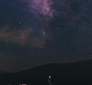 shenandoah national park, night photography, milky way, thorton gap, jeremy's run overlook, skyline drive, self portrait,