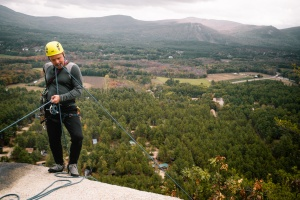 new england, new hampshire, crawford, cathedral ledge, hike, mountains, white mountains national forest, bartlett, trail, hiking, view, rock climber,