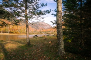 new england, new hampshire, crawford notch, road side, lake, reflection, road trip, fall, autumn, trees