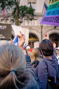 washington dc, womens march, freedom plaza, march, protest, social change, trump international hotel, president, hotel,