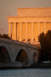 lincoln memorial, long exposure, night photography, arlington memorial bridge, lincoln memorial, washington dc, sunset,