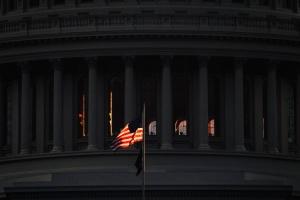us capitol, capitol hill, american flag, light, sunrise