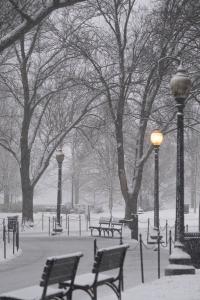 path, national mall, vietnam veterans memorial, snow, winter, washington dc