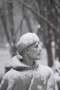 korean war memorial, snow, winter, washington dc, national mall
