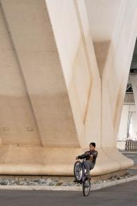 alexandria, virginia, va, under bridge, jones point park, bike