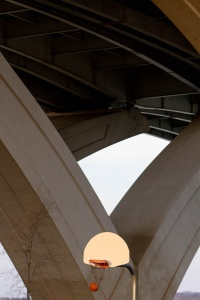 jones point park, alexandria, virginia, under the bridge, basketball, hoop, park,