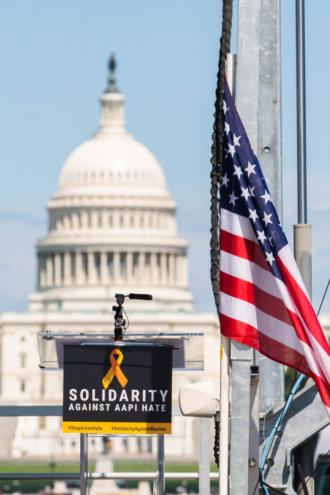 solidarity against aapi hate, aapi hate, washington dc, national mall, us capitol, hate crimes, asian community,