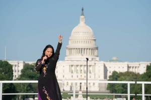solidarity against aapi hate, aapi hate, washington dc, national mall, us capitol, hate crimes, asian community, rally, kha, singer, songwriter, performance, vokhal, no more