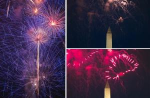 july 4th, independence day, 4th of july, national mall, washington dc, netherlands carillon, iwo jima, arlington, virginia, night photography, fireworks, washington monument